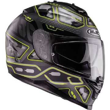 HJC IS-17 Uruk Black / Fluo Yellow Motorcycle Helmet Small, Medium, X Large
